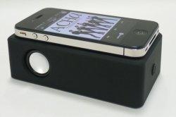 画像2: 置くだけスピーカー!ワイヤーレススピーカー(ブラック )  iPhone、各種スマホ、iPod に対応!