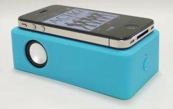 画像2: 置くだけスピーカー!ワイヤーレススピーカー(ブルー)  iPhone、各種スマホ、iPod に対応!